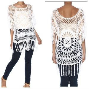 India Boutique white crochet top